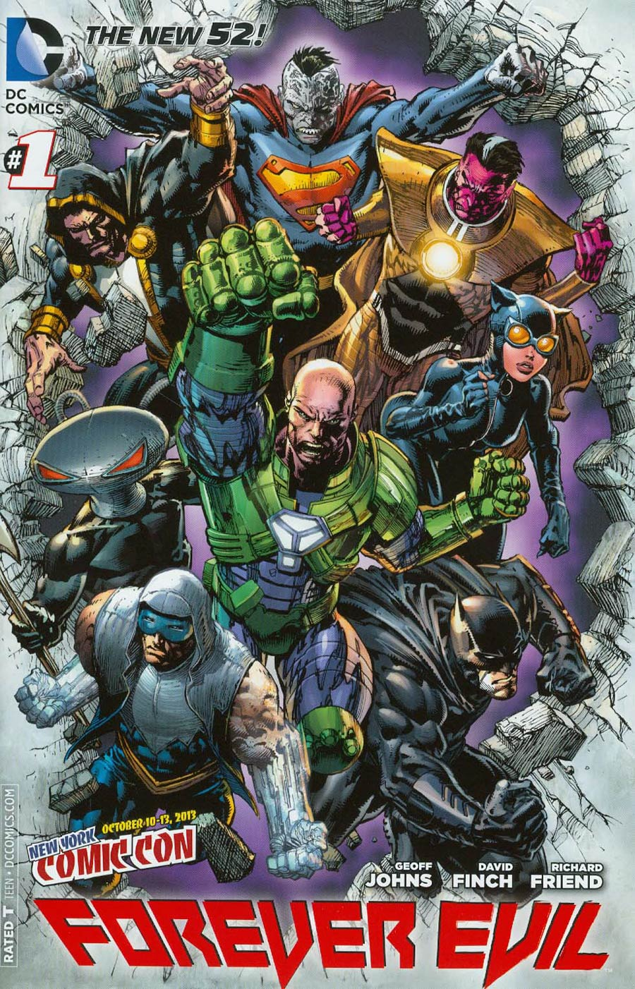 Forever Evil #1 Cover K 2013 New York Comic-Con Exclusive Variant Cover