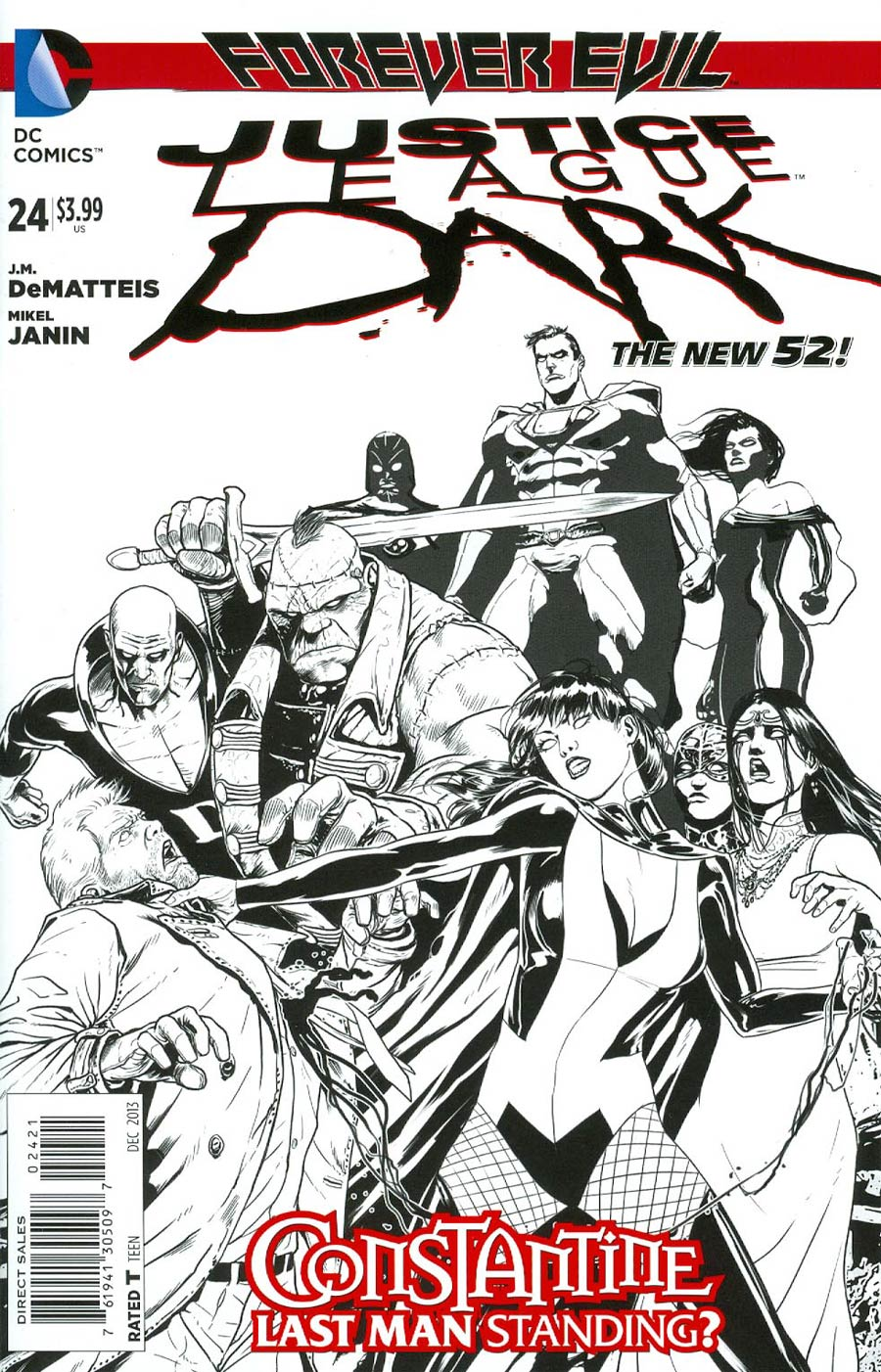 Justice League Dark #24 Cover B Incentive Mikel Janin Sketch Cover (Forever Evil Tie-In)