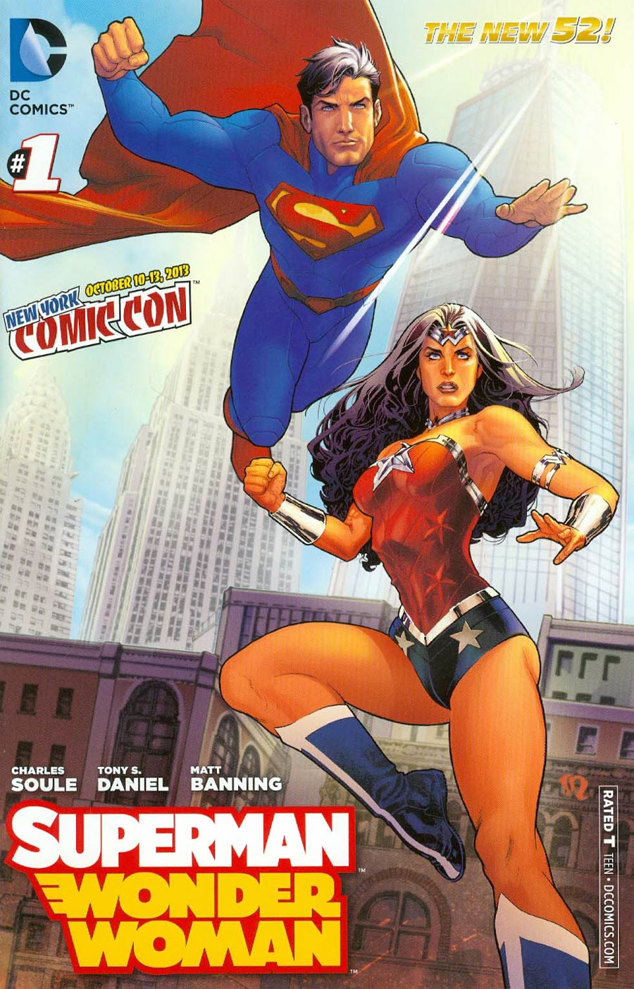 Superman Wonder Woman #1 Cover H 2013 New York Comic-Con Exclusive Variant Cover