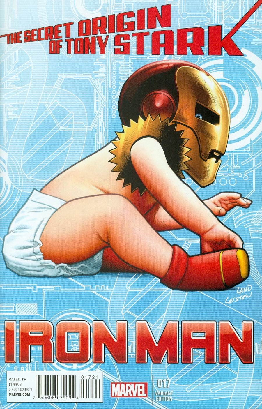 Iron Man Vol 5 #17 Cover B Incentive Greg Land Classified Baby Variant Cover