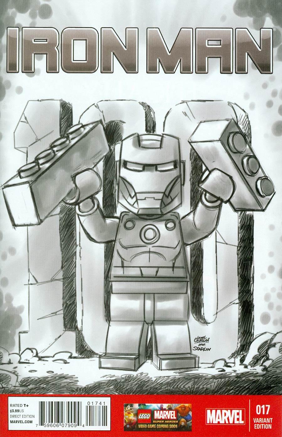 Iron Man Vol 5 #17 Cover D Incentive Leonel Castellani Lego Sketch Variant Cover