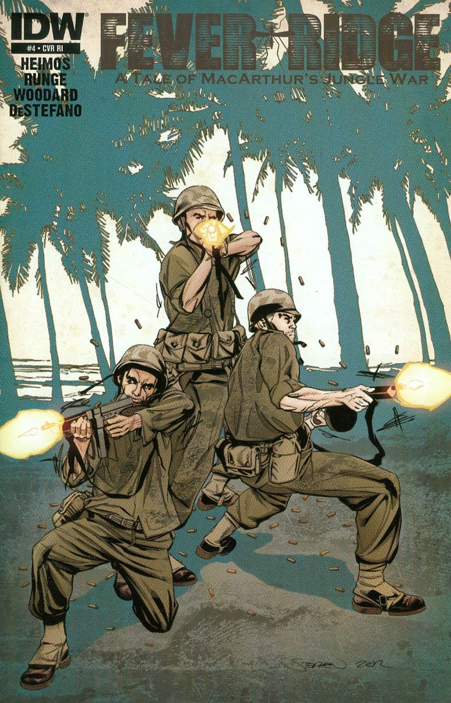 Fever Ridge A Tale Of MacArthurs Jungle War #4 Cover B Incentive Stephen Mooney Variant Cover