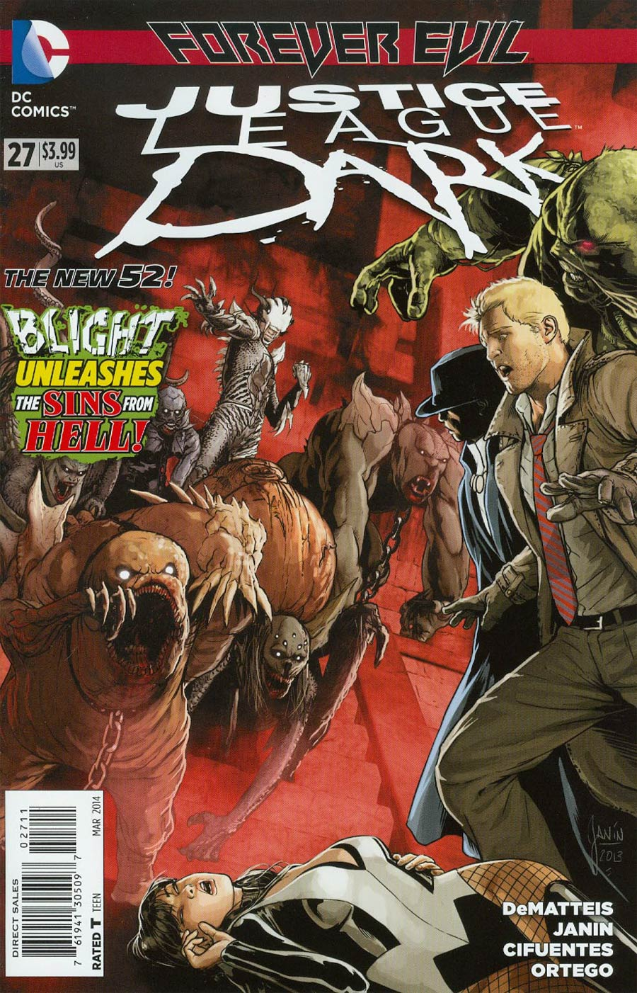 Justice League Dark #27 Cover A Regular Mikel Janin Cover (Forever Evil Tie-In)