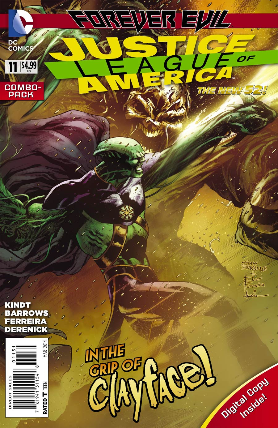 Justice League Of America Vol 3 #11 Cover C Combo Pack With Polybag (Forever Evil Tie-In)