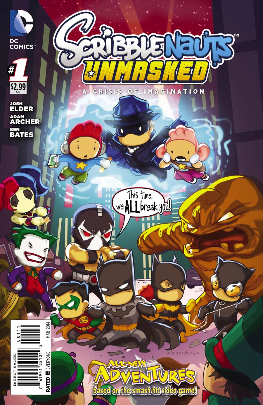 Scribblenauts Unmasked Crisis Of Imagination #1 Cover A Regular Adam Archer Cover