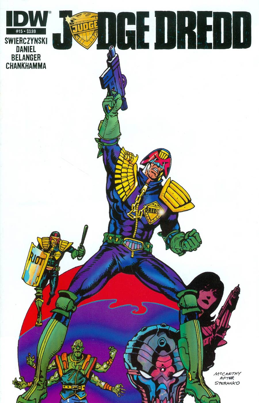 Judge Dredd Vol 4 #15 Cover A Regular Brendan McCarthy Cover