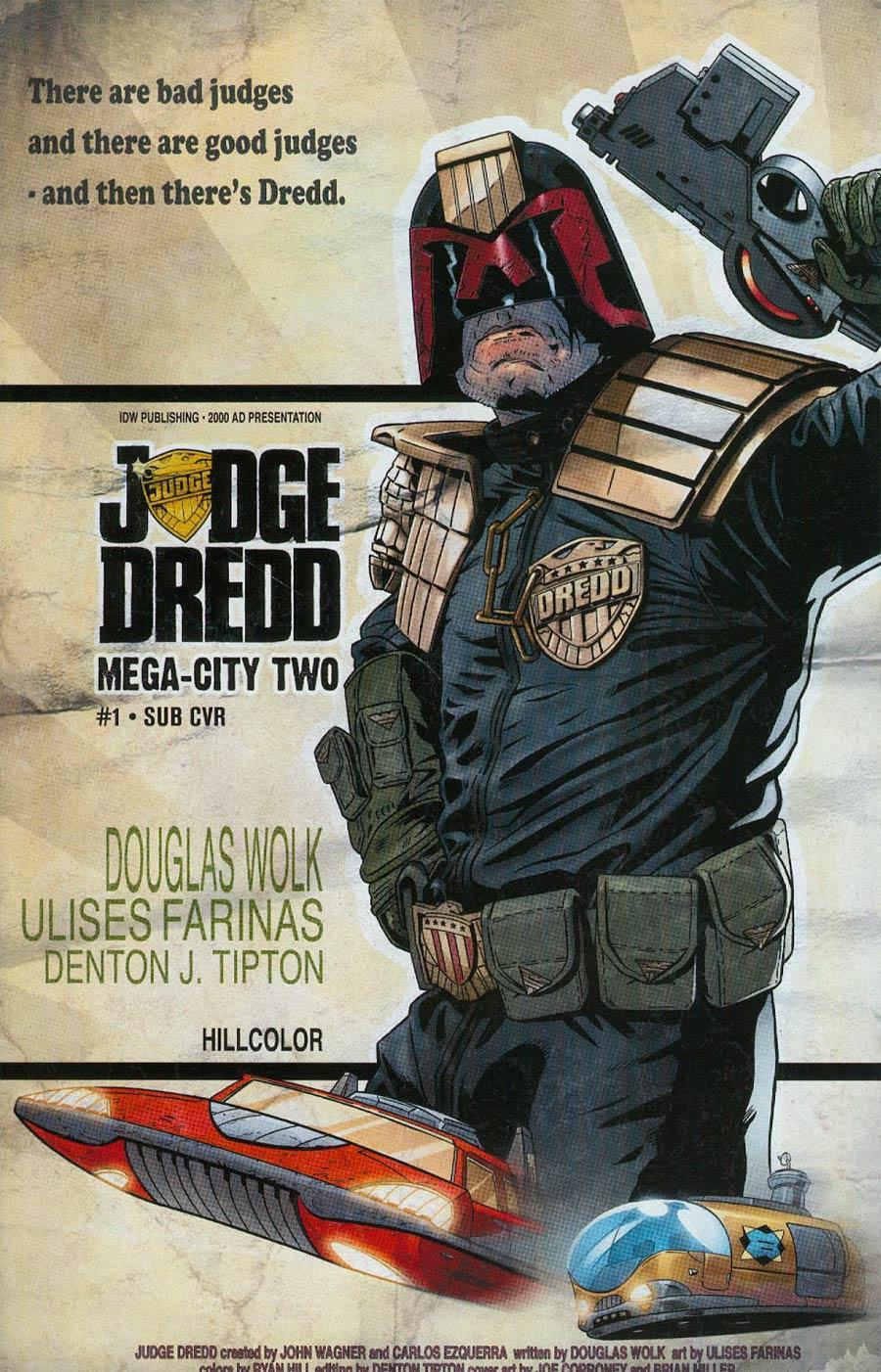 Judge Dredd Mega-City Two #1 Cover B Variant Joe Corroney Subscription Cover