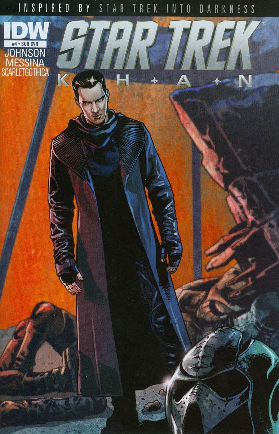 Star Trek Khan #4 Cover B Variant David Messina Subscription Cover