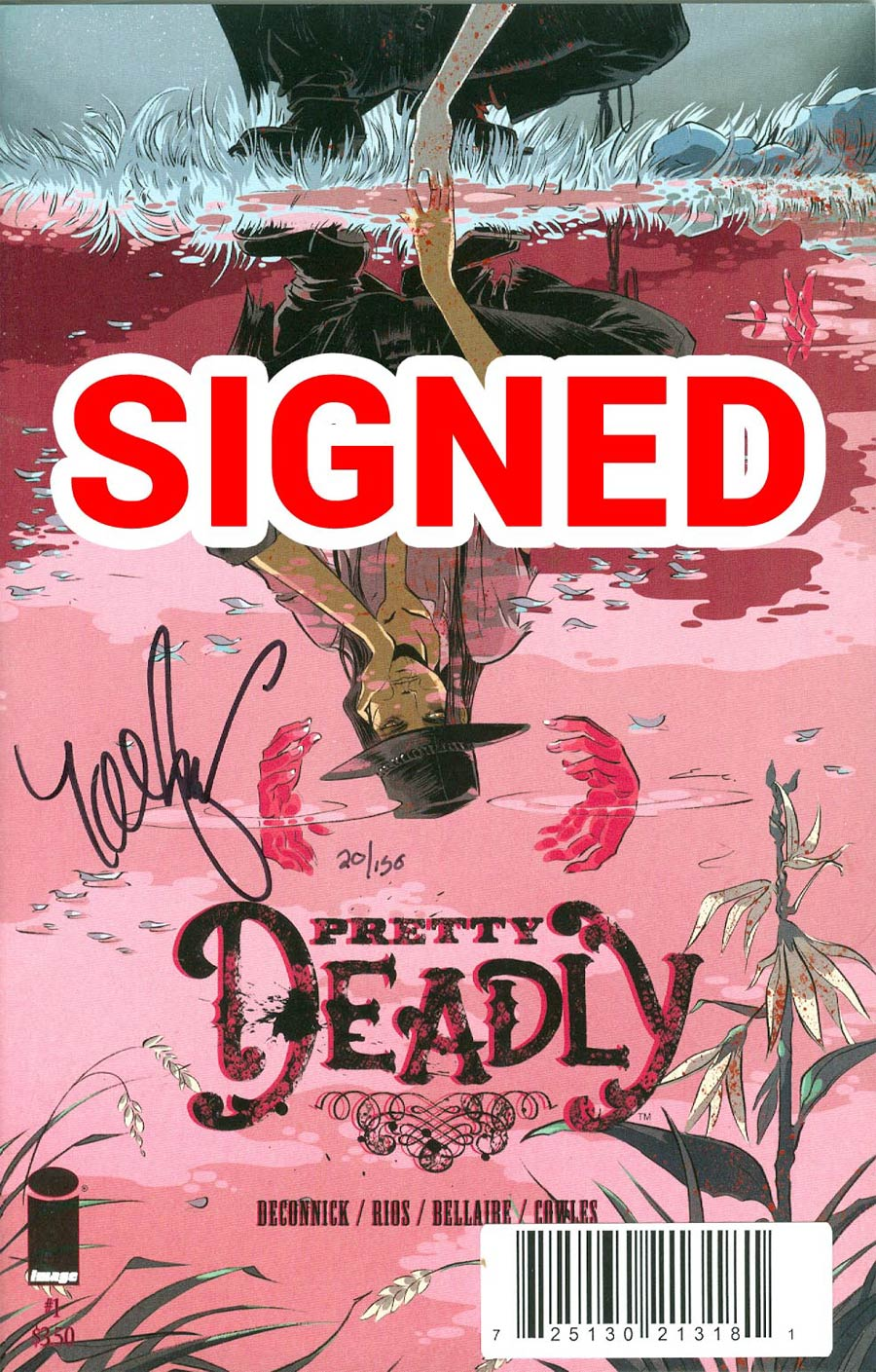 Pretty Deadly #1 Cover C DF Signed By Kelly Sue DeConnick