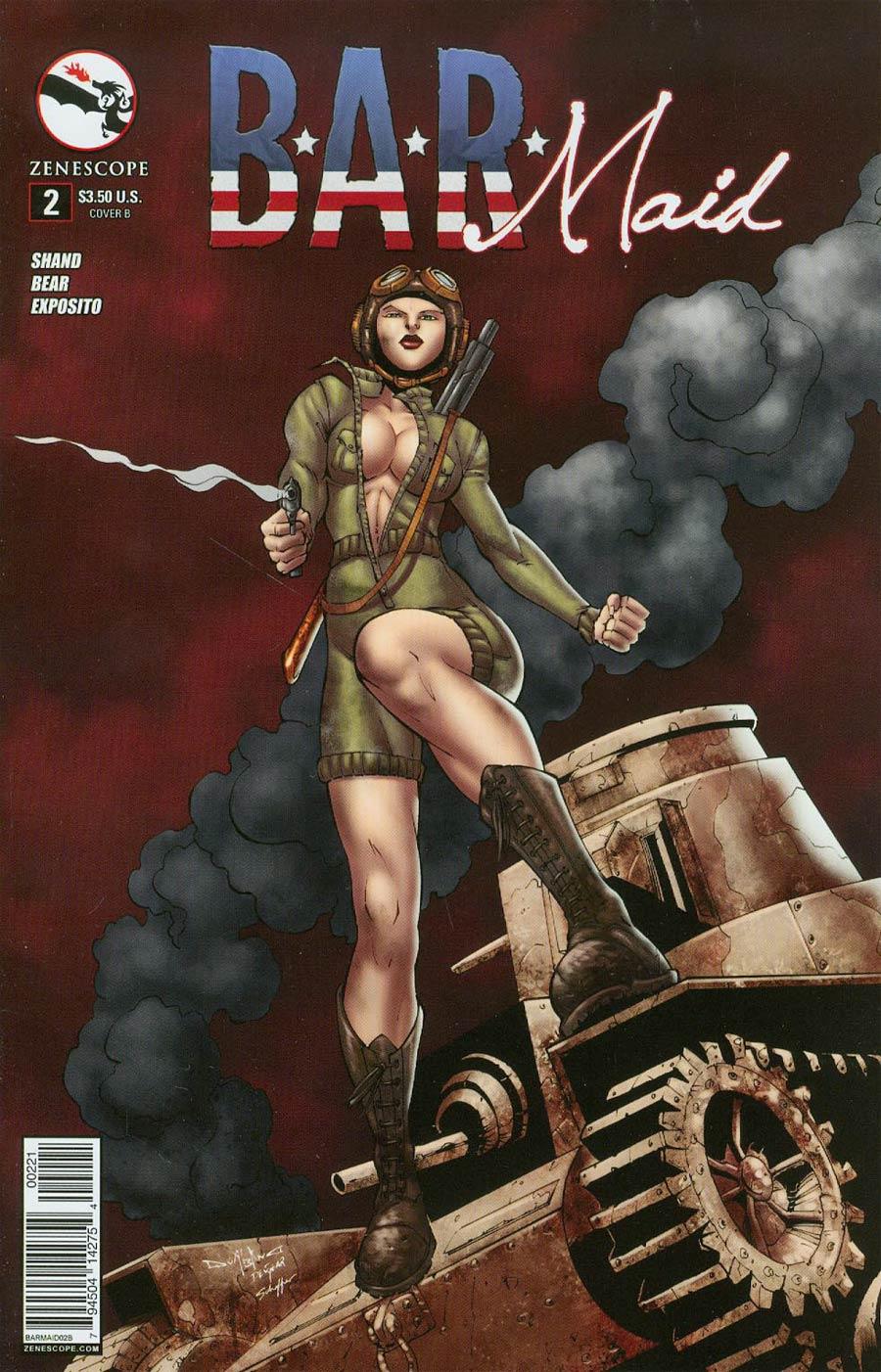 B.A.R. Maid #2 Cover B Pasquale Qualano