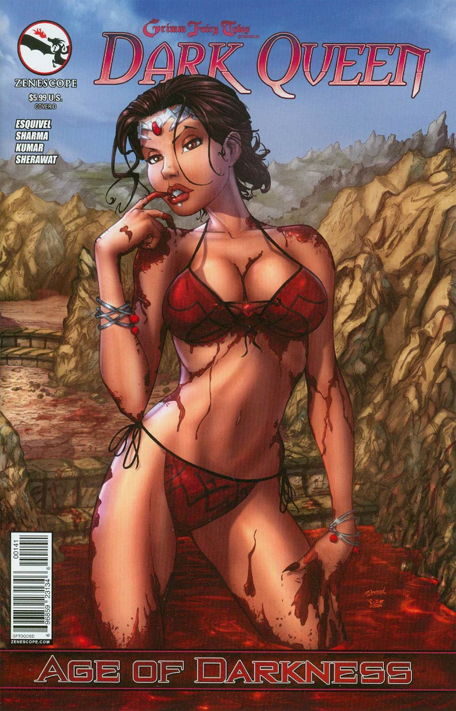Grimm Fairy Tales Presents Dark Queen Cover D Chris Ehnot Bikini (Age Of Darkness Tie-In)