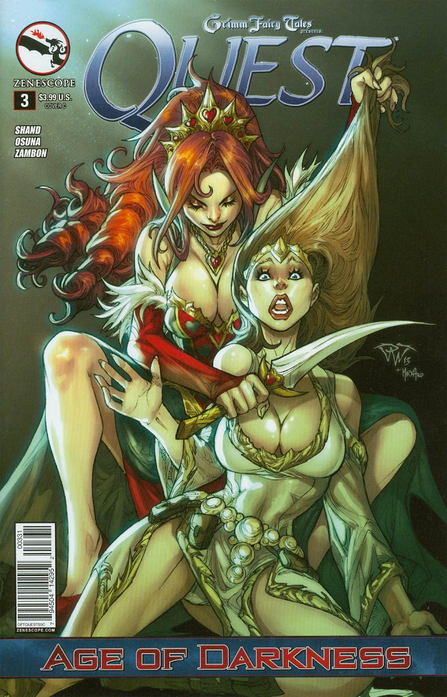 Grimm Fairy Tales Presents Quest #3 Cover C Paolo Pantalena (Age Of Darkness Tie-In)