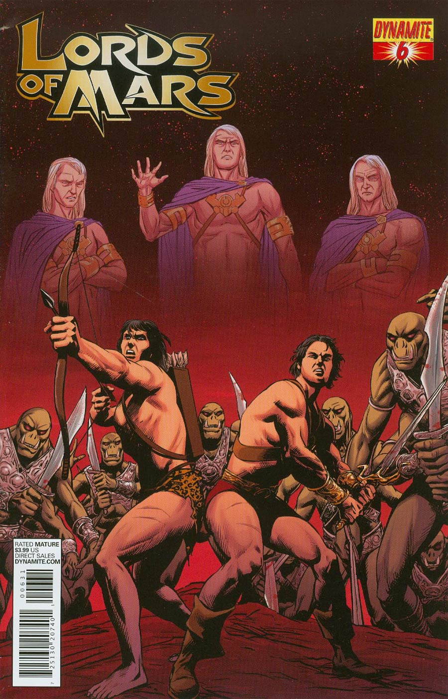 Lords Of Mars #6 Cover B Variant Jose Malaga Subscription Cover