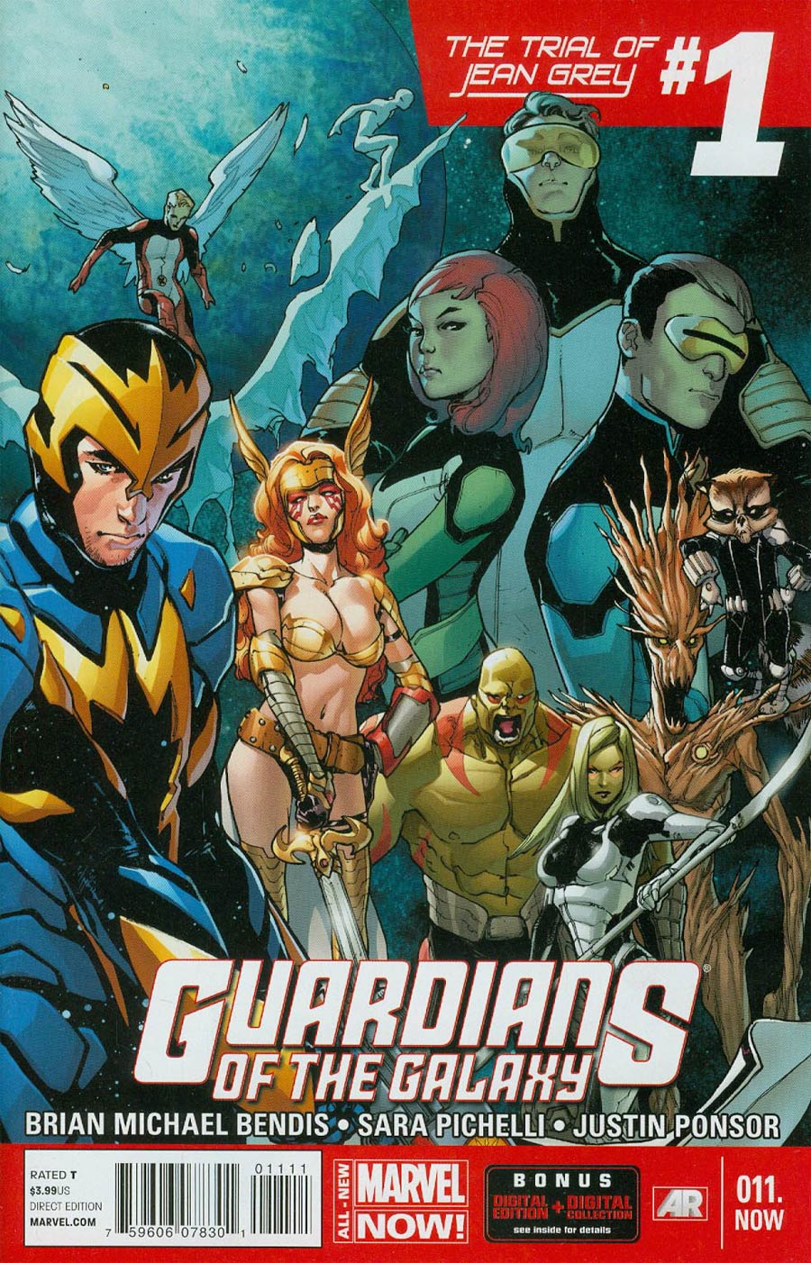 Guardians Of The Galaxy Vol 3 #11.NOW Cover A 1st Ptg Regular Sara Pichelli Cover (Trial Of Jean Grey Part 2)