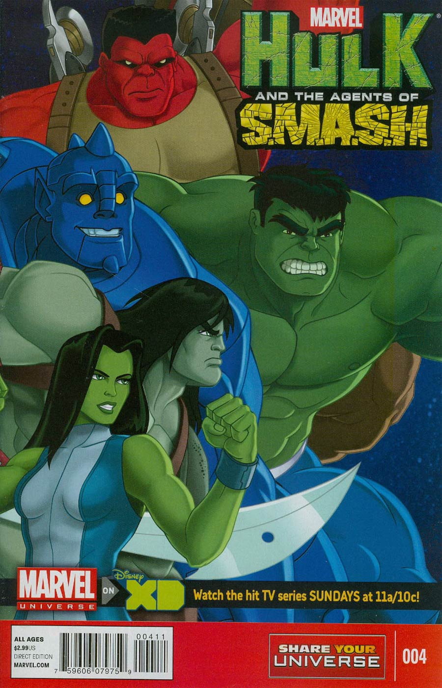 Marvel Universe Hulk And The Agents Of S.M.A.S.H. #4