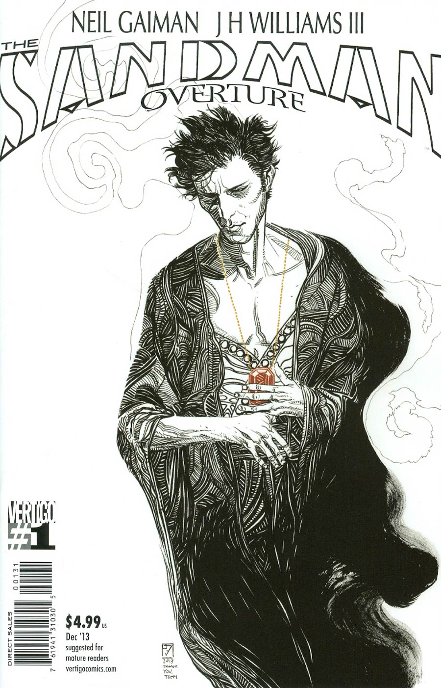 Sandman Overture #1 Cover E Incentive JH Williams III Sketch Variant Cover