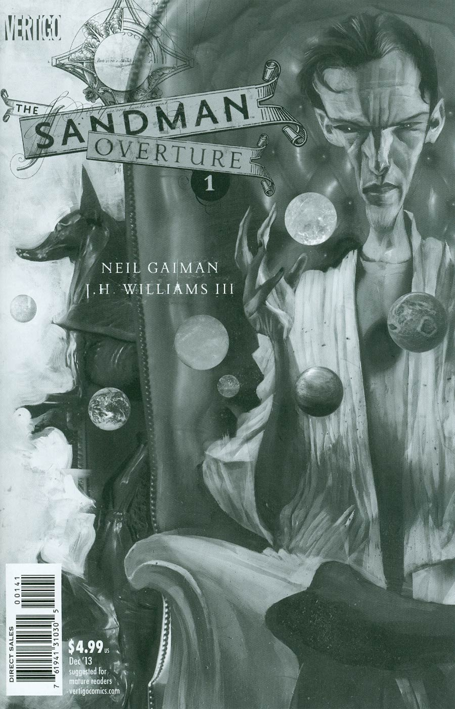 Sandman Overture #1 Cover F Incentive Dave McKean Sketch Variant Cover