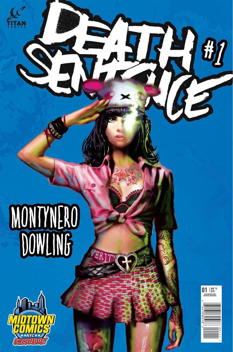 Death Sentence #1 Cover B Midtown Exclusive Encore Montynero Variant Cover