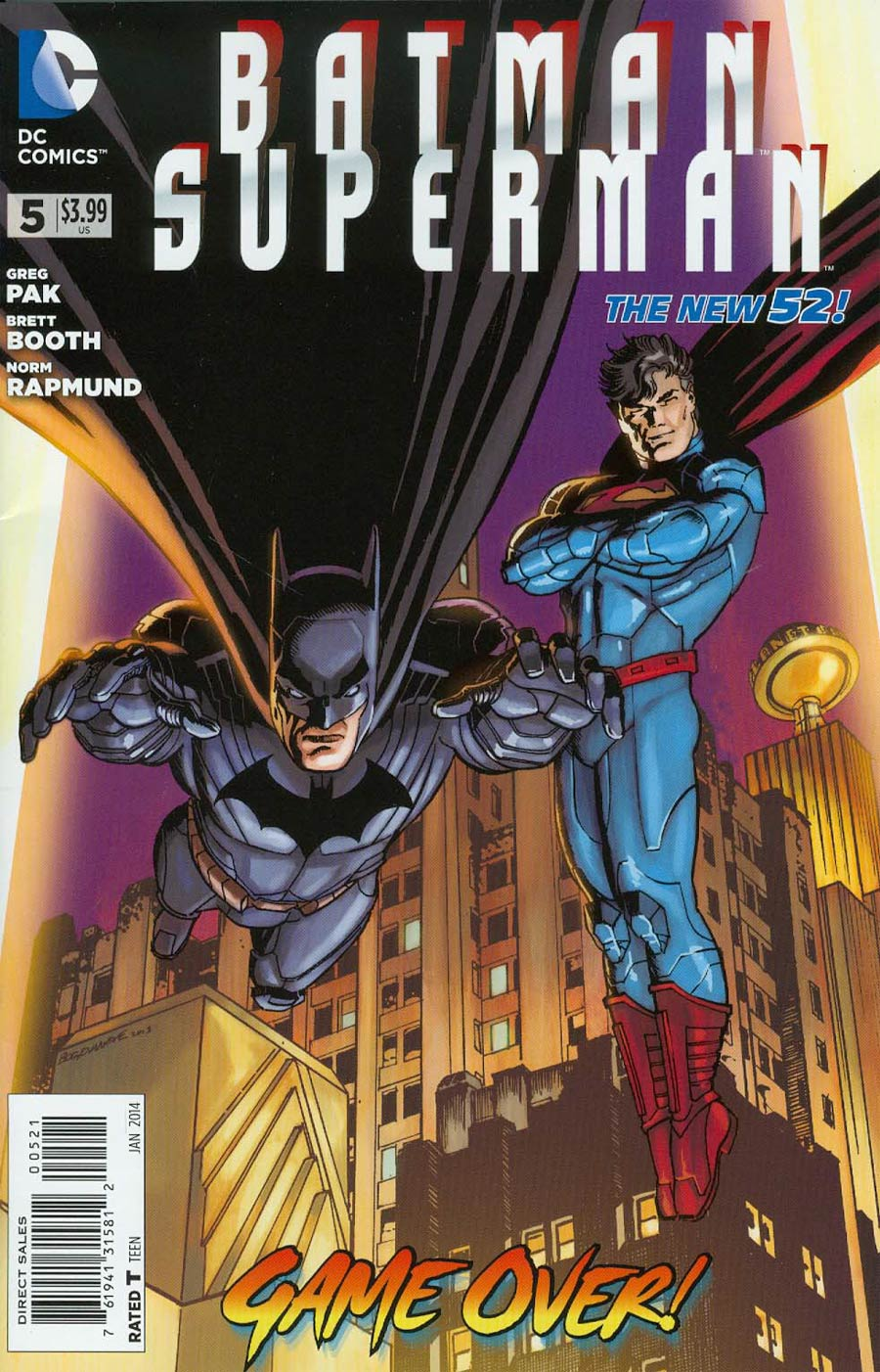 Batman Superman #5 Cover D Incentive Jon Bogdanove Variant Cover