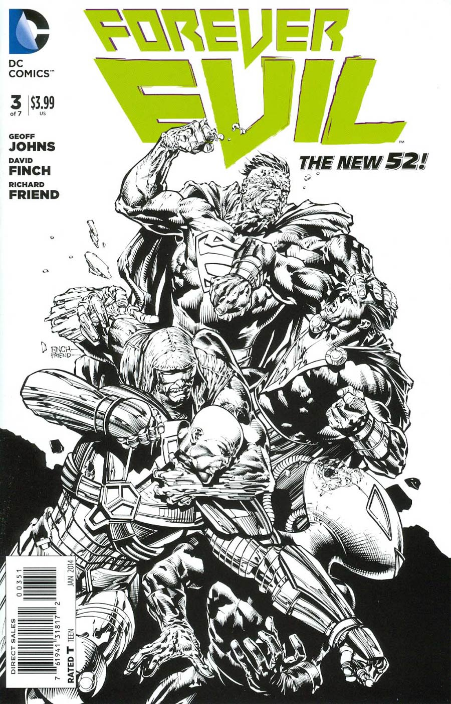 Forever Evil #3 Cover G Incentive David Finch Sketch Cover