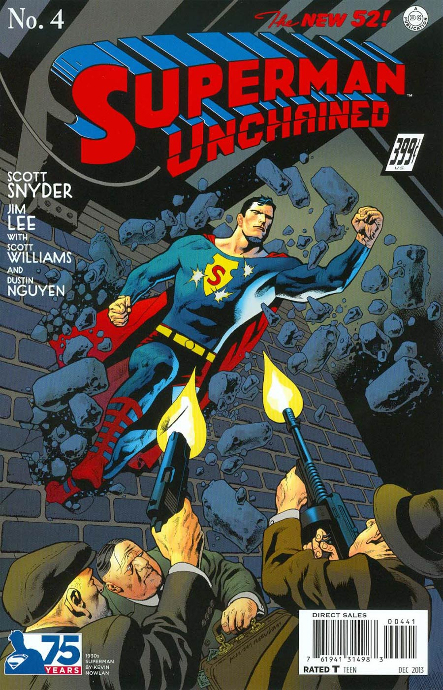 Superman Unchained #4 Cover E Incentive 75th Anniversary 1930s Variant Cover By Kevin Nowlan