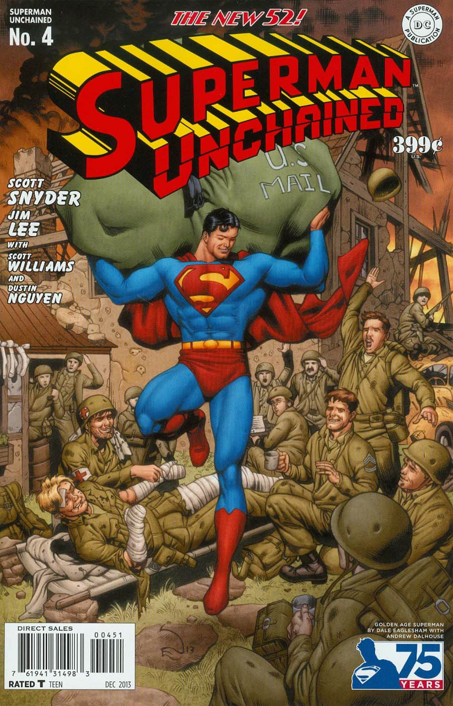 Superman Unchained #4 Cover F Incentive 75th Anniversary Golden Age Variant Cover By Andrew Dalhouse