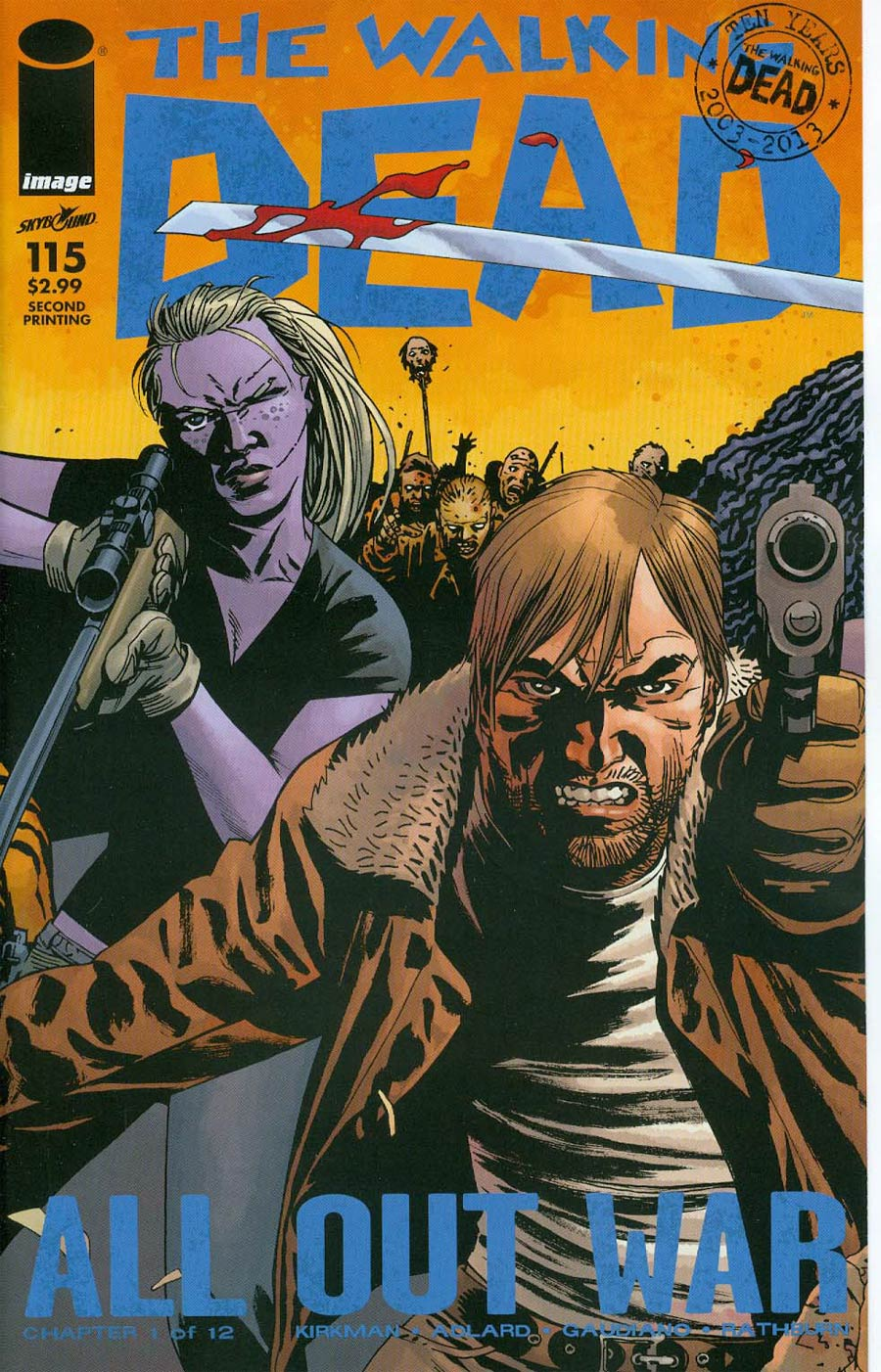 Walking Dead #115 Cover P 2nd Ptg