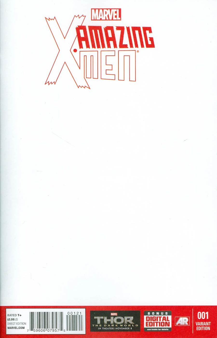 Amazing X-Men Vol 2 #1 Cover B Variant Blank Cover