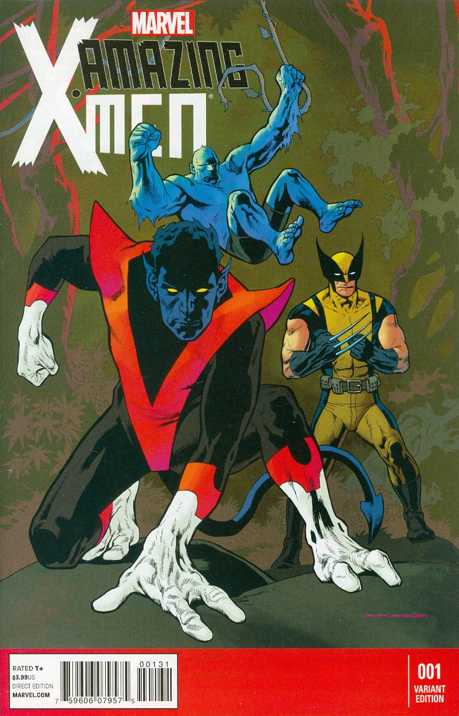 Amazing X-Men Vol 2 #1 Cover E Incentive Kevin Nowlan Variant Cover