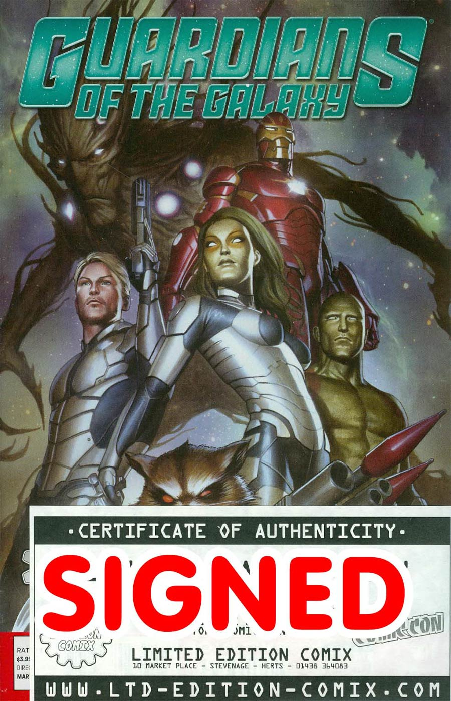 Guardians Of The Galaxy Vol 3 #1 Cover P Limited Edition Comix Exclusive Adi Granov Variant Cover Signed By Adi Granov