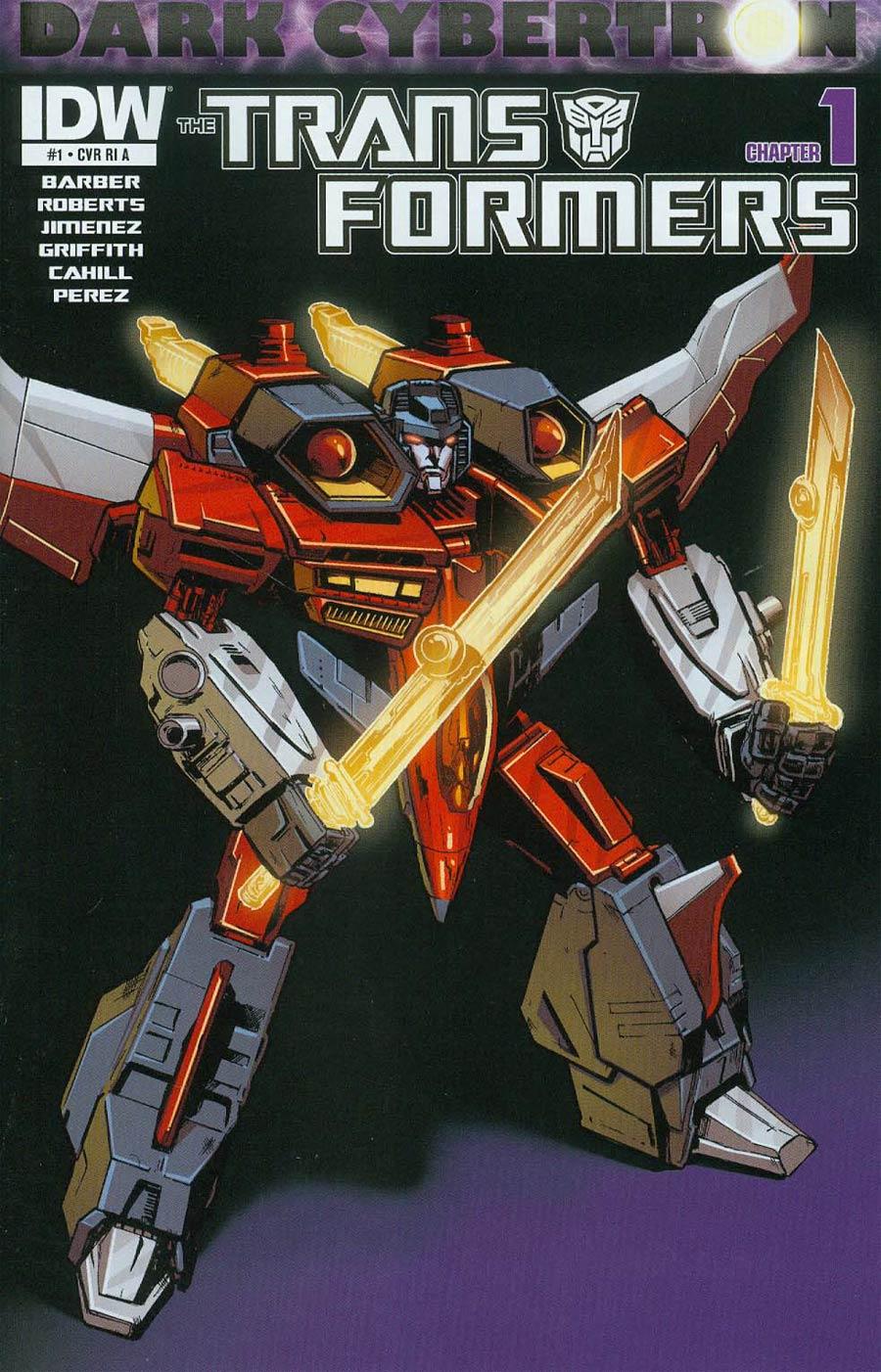 Transformers Dark Cybertron #1 Cover C Incentive Phil Jimenez Starscream Variant Cover (Dark Cybertron Part 1)