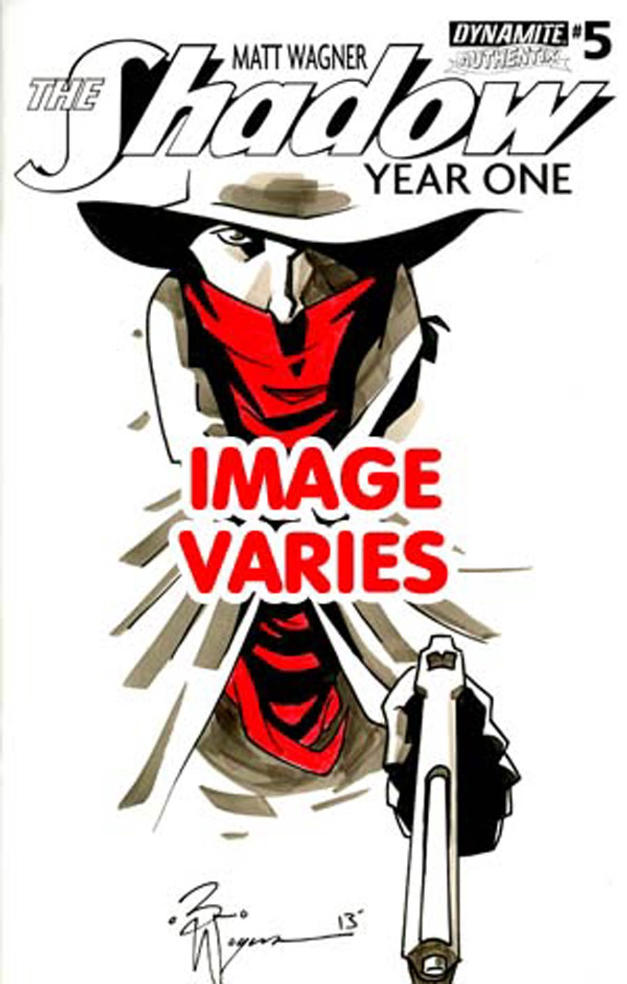 Shadow Year One #5 Cover H Incentive Brennan Wagner Hand-Drawn Original Sketch Cover