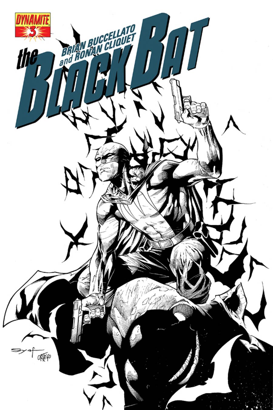 Black Bat #3 Cover G High-End Ardian Syaf Black & White Ultra-Limited Cover (ONLY 50 COPIES IN EXISTENCE!)
