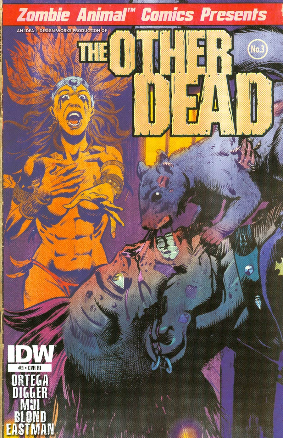 Other Dead #3 Cover C Incentive Zombie Squirrel Variant Cover