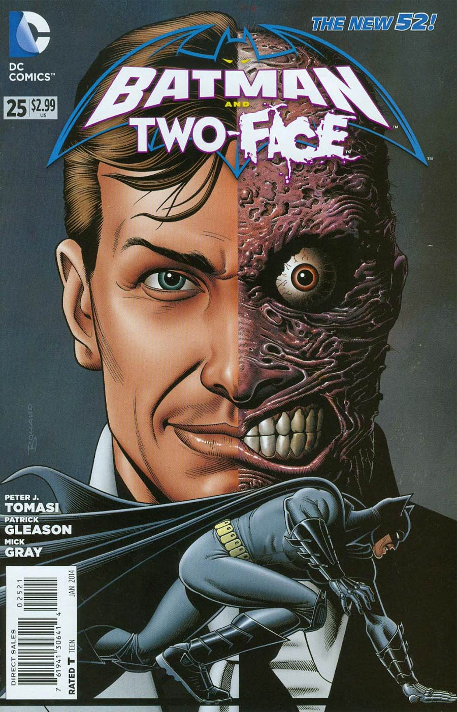 Batman And Two-Face #25 Cover B Incentive Brian Bolland Variant Cover