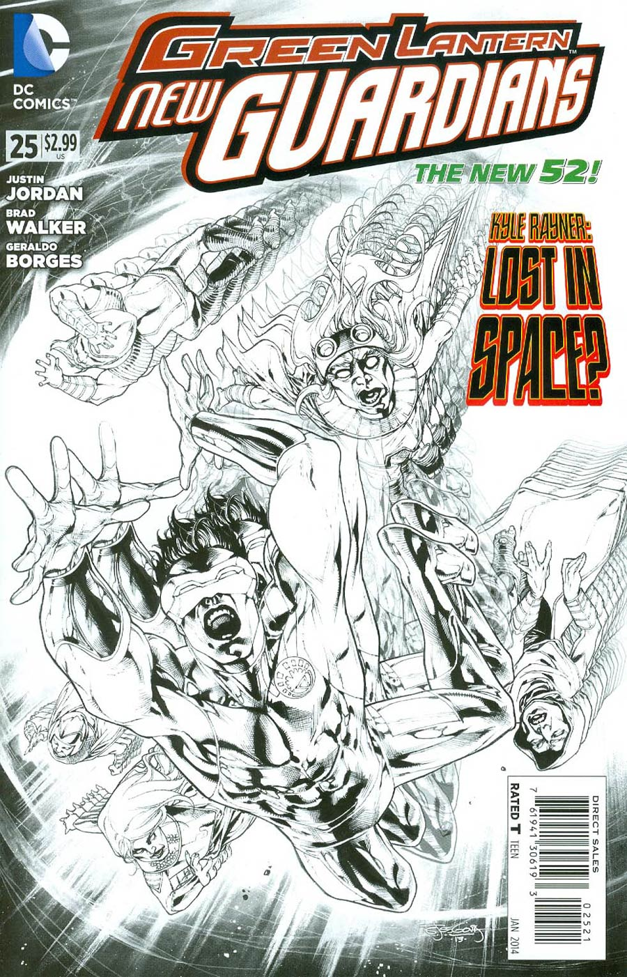 Green Lantern New Guardians #25 Cover B Incentive Stephen Segovia Sketch Cover
