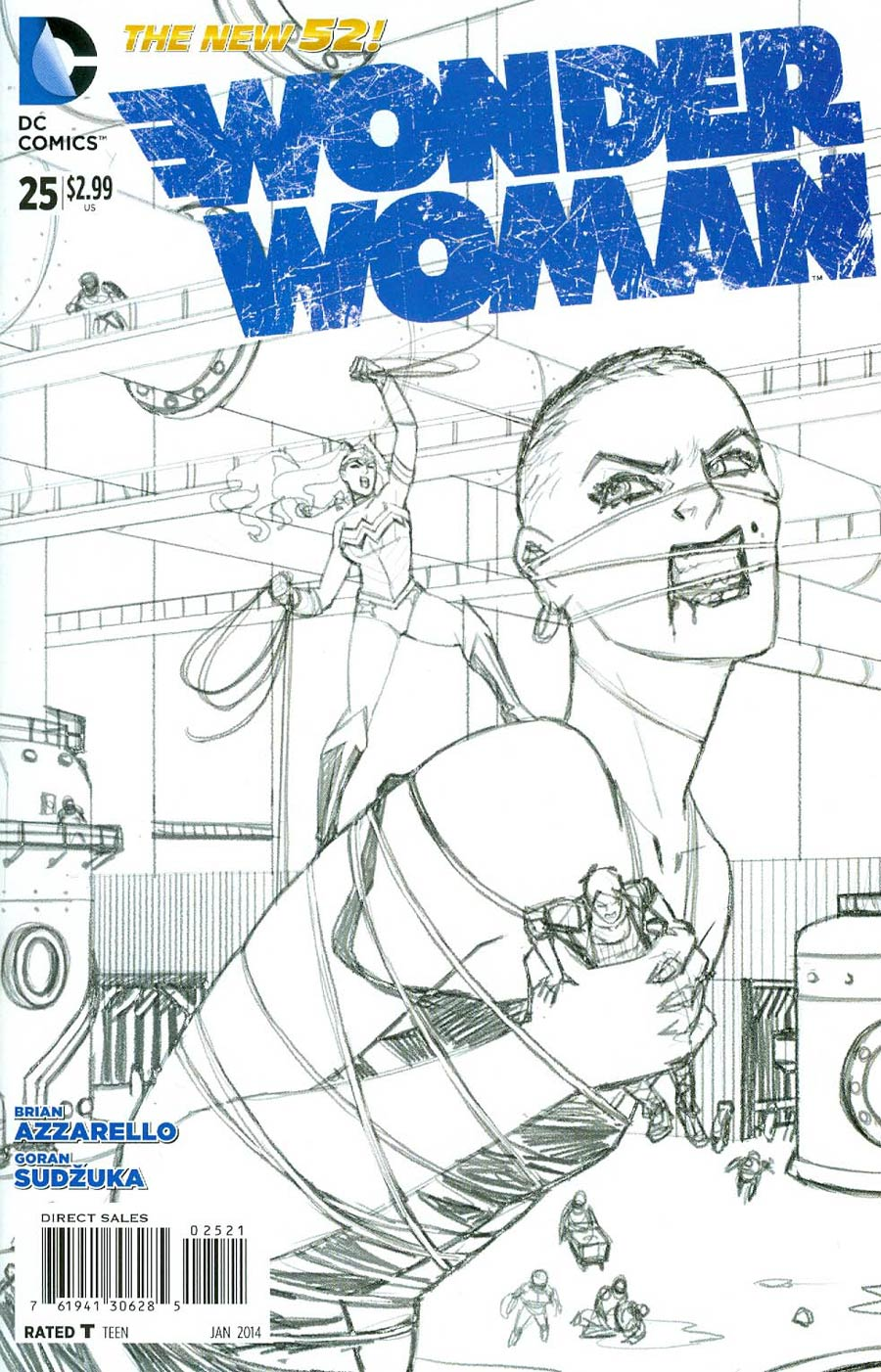 Wonder Woman Vol 4 #25 Cover B Incentive Cliff Chiang Sketch Cover