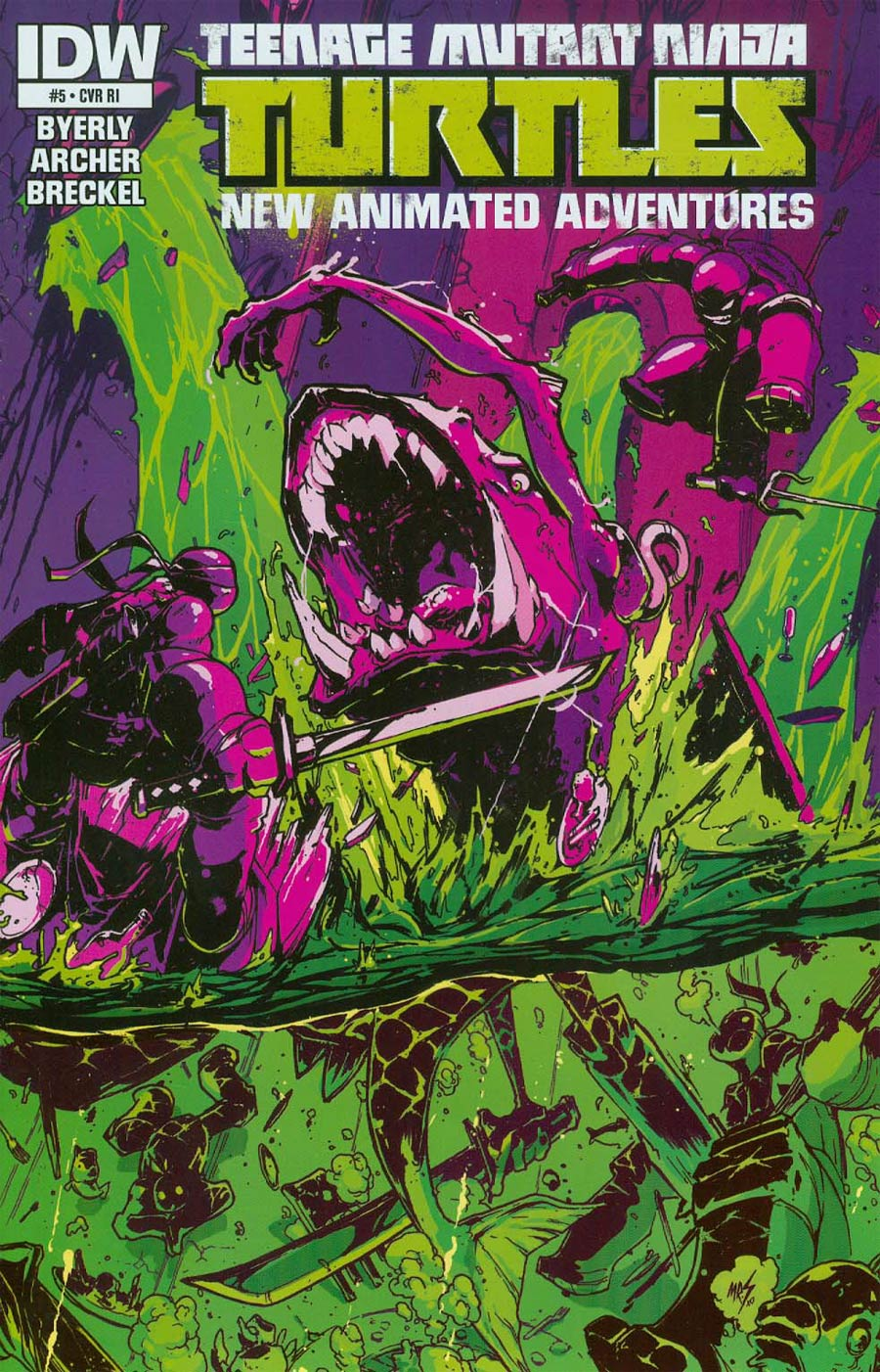 Teenage Mutant Ninja Turtles New Animated Adventures #5 Cover B Incentive Mr Charlie Variant Cover