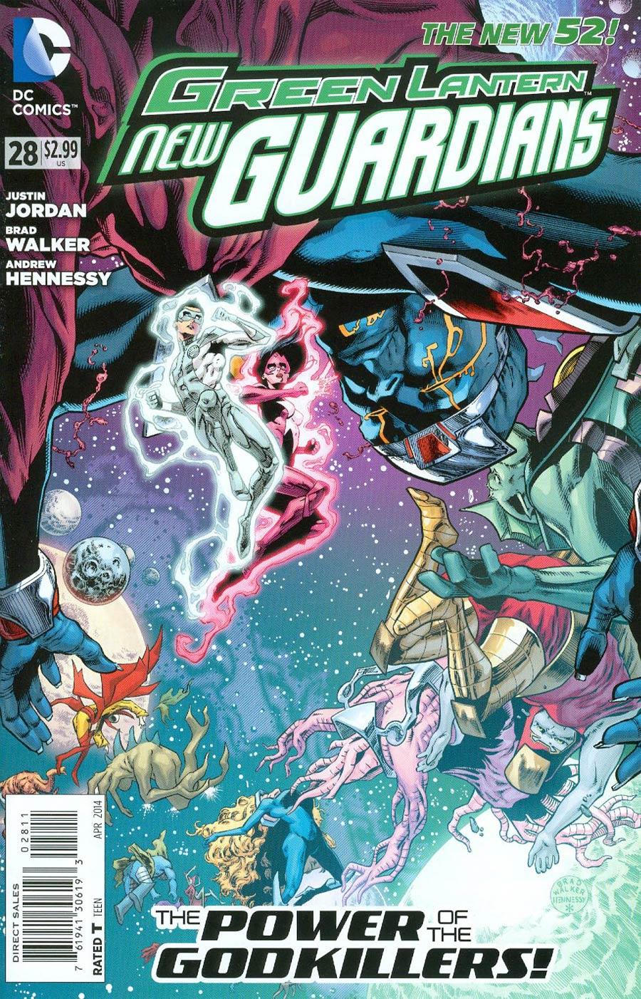 Green Lantern New Guardians #28 Cover A Regular Brad Walker Cover