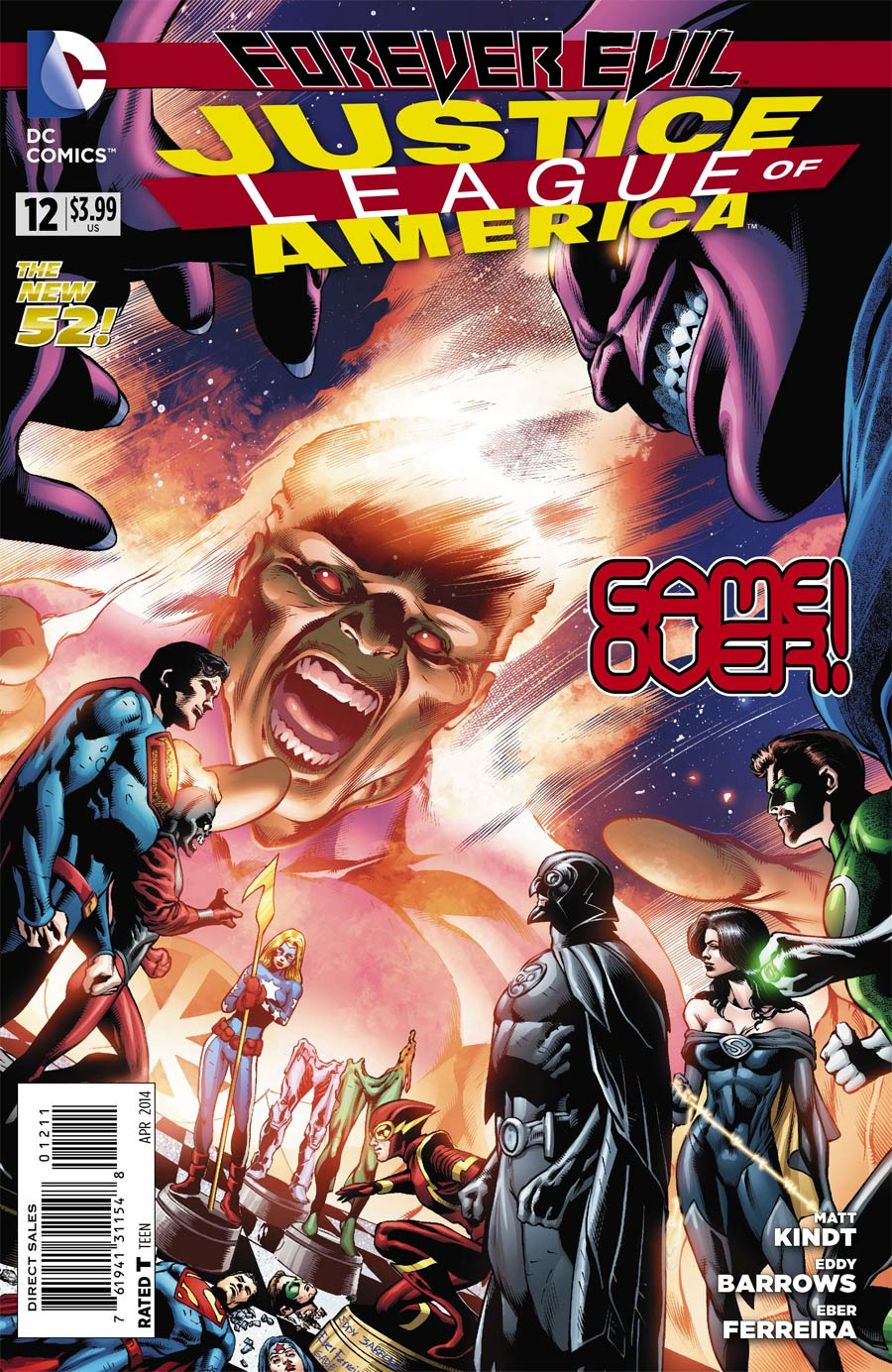 Justice League Of America Vol 3 #12 Cover A Regular Eddy Barrows Cover (Forever Evil Tie-In)