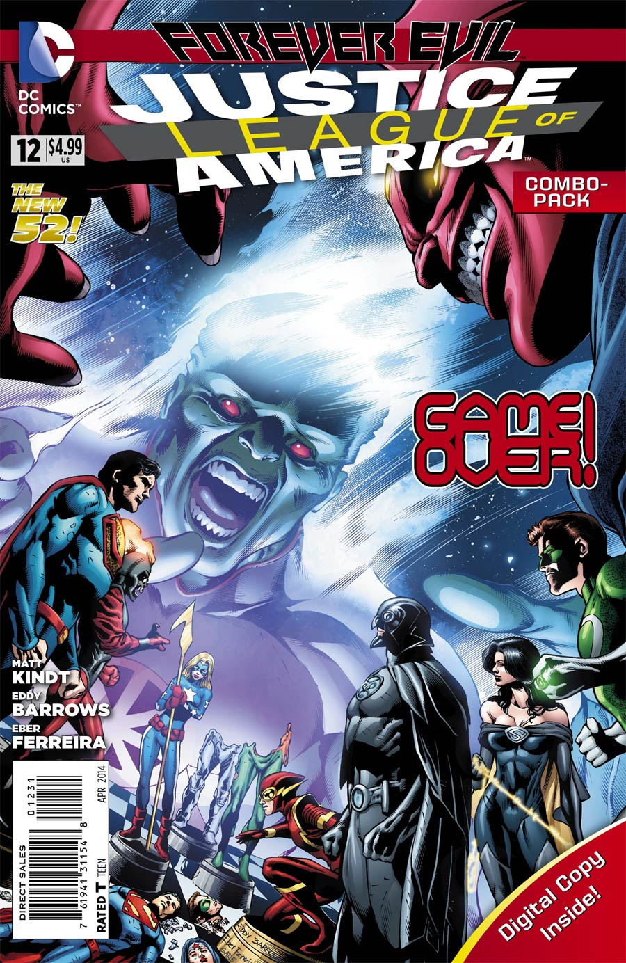 Justice League Of America Vol 3 #12 Cover B Combo Pack With Polybag (Forever Evil Tie-In)
