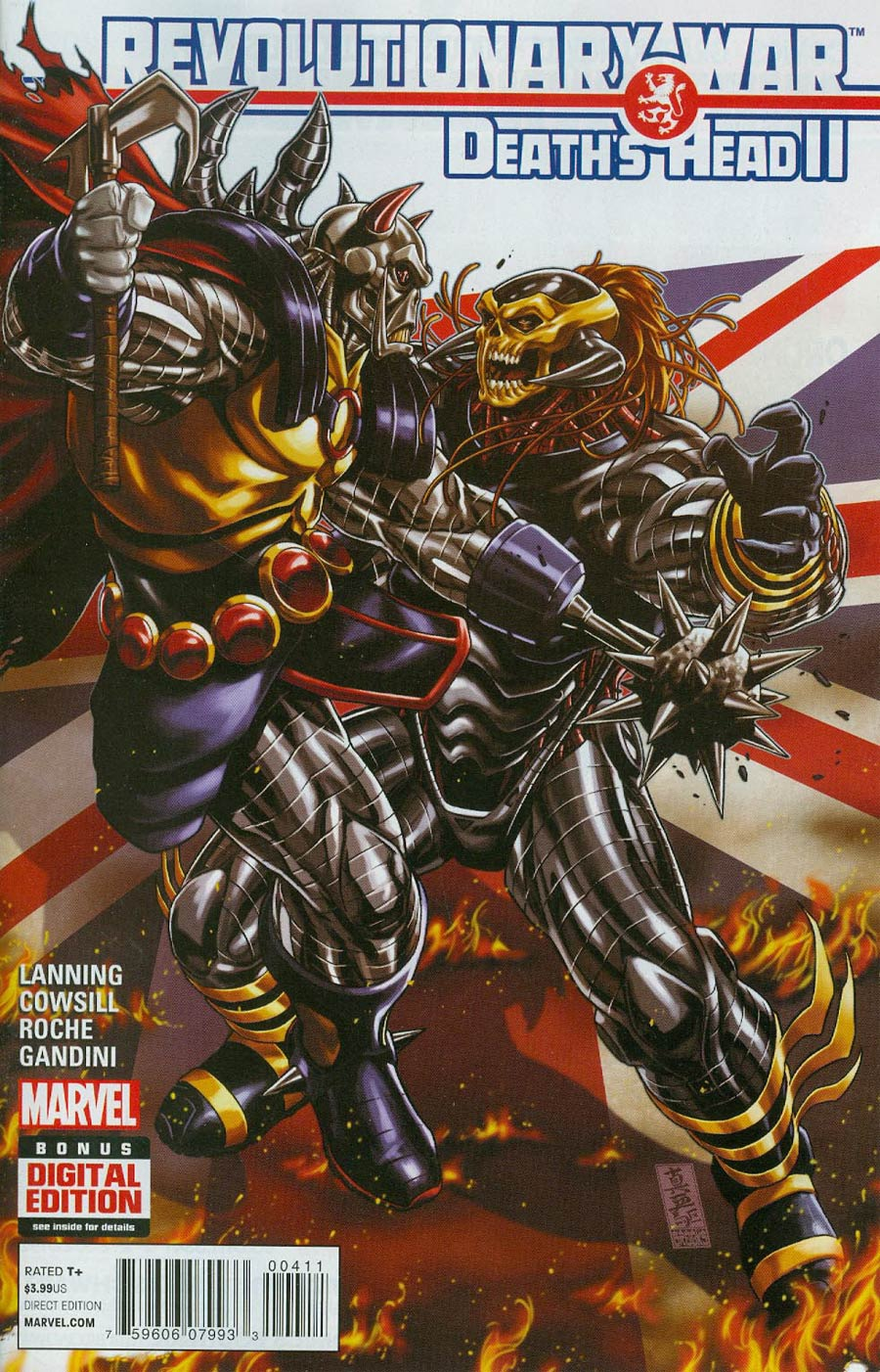 Revolutionary War Deaths Head II #1 Cover A Regular Mark Brooks Cover (Revolutionary War Part 4)