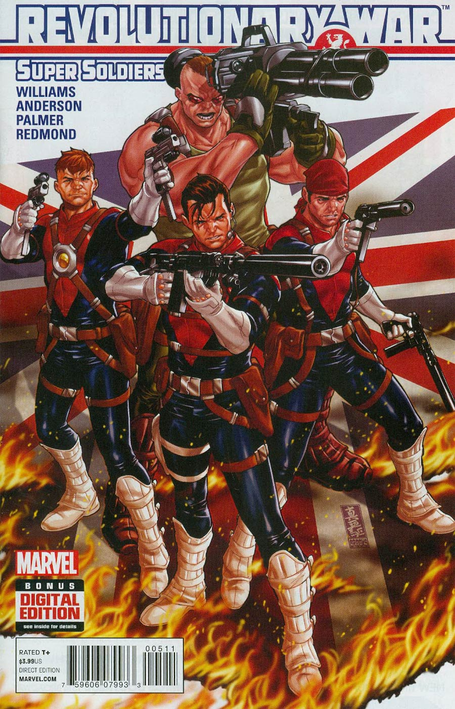 Revolutionary War Supersoldiers #1 Cover A Regular Mark Brooks Cover (Revolutionary War Part 5)