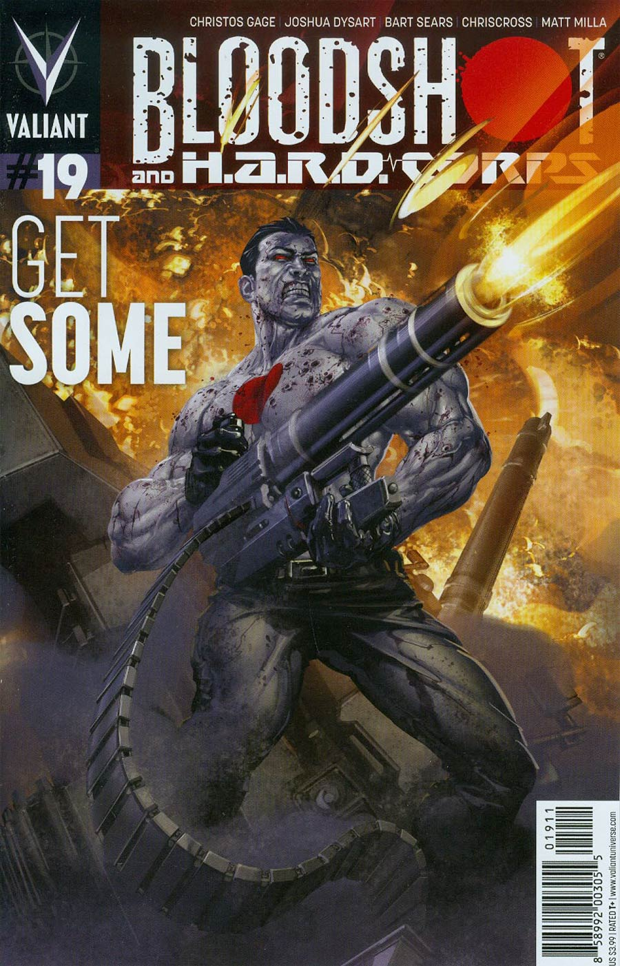 Bloodshot And H.A.R.D. Corps #19 Cover A Regular Clayton Crain Cover
