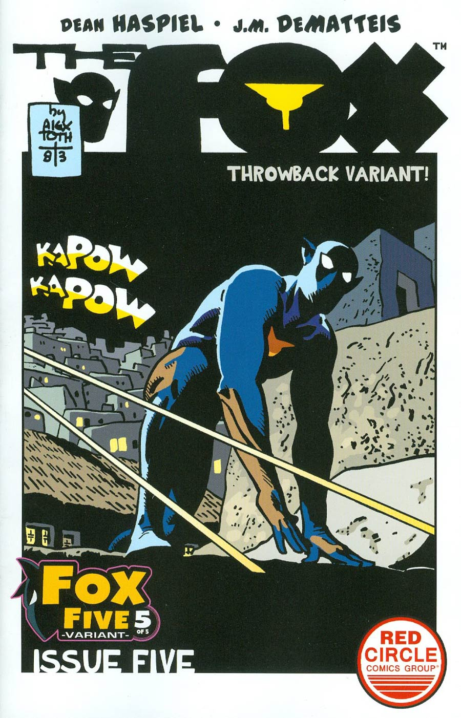 Fox #5 Cover F Variant Alex Toth Throwback Cover