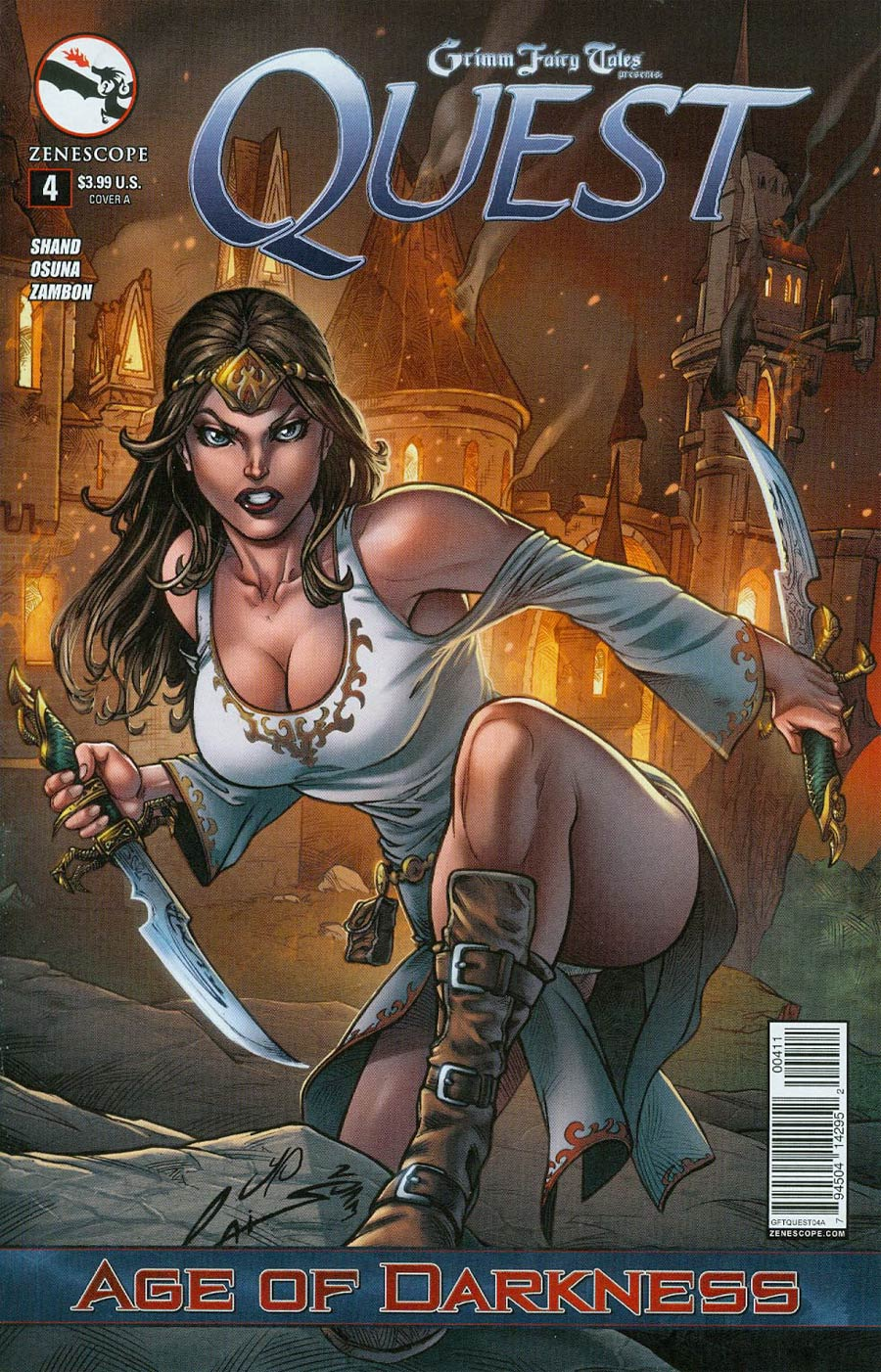 Grimm Fairy Tales Presents Quest #4 Cover A Emilio Laiso (Age Of Darkness Tie-In)