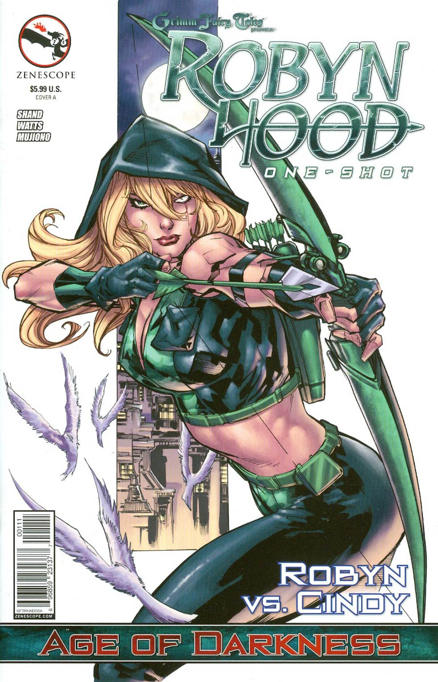 Grimm Fairy Tales Presents Robyn Hood Age Of Darkness Cover A Ken Lashley (Age Of Darkness Tie-In)