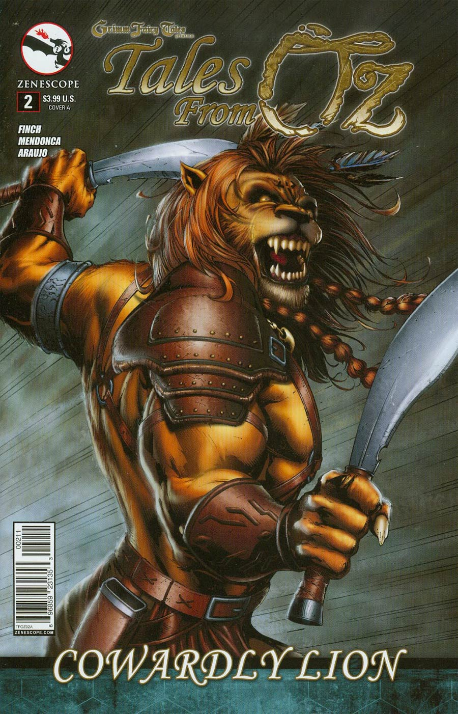 Grimm Fairy Tales Presents Tales From Oz #2 Cowardly Lion Cover A Marat Mychaels