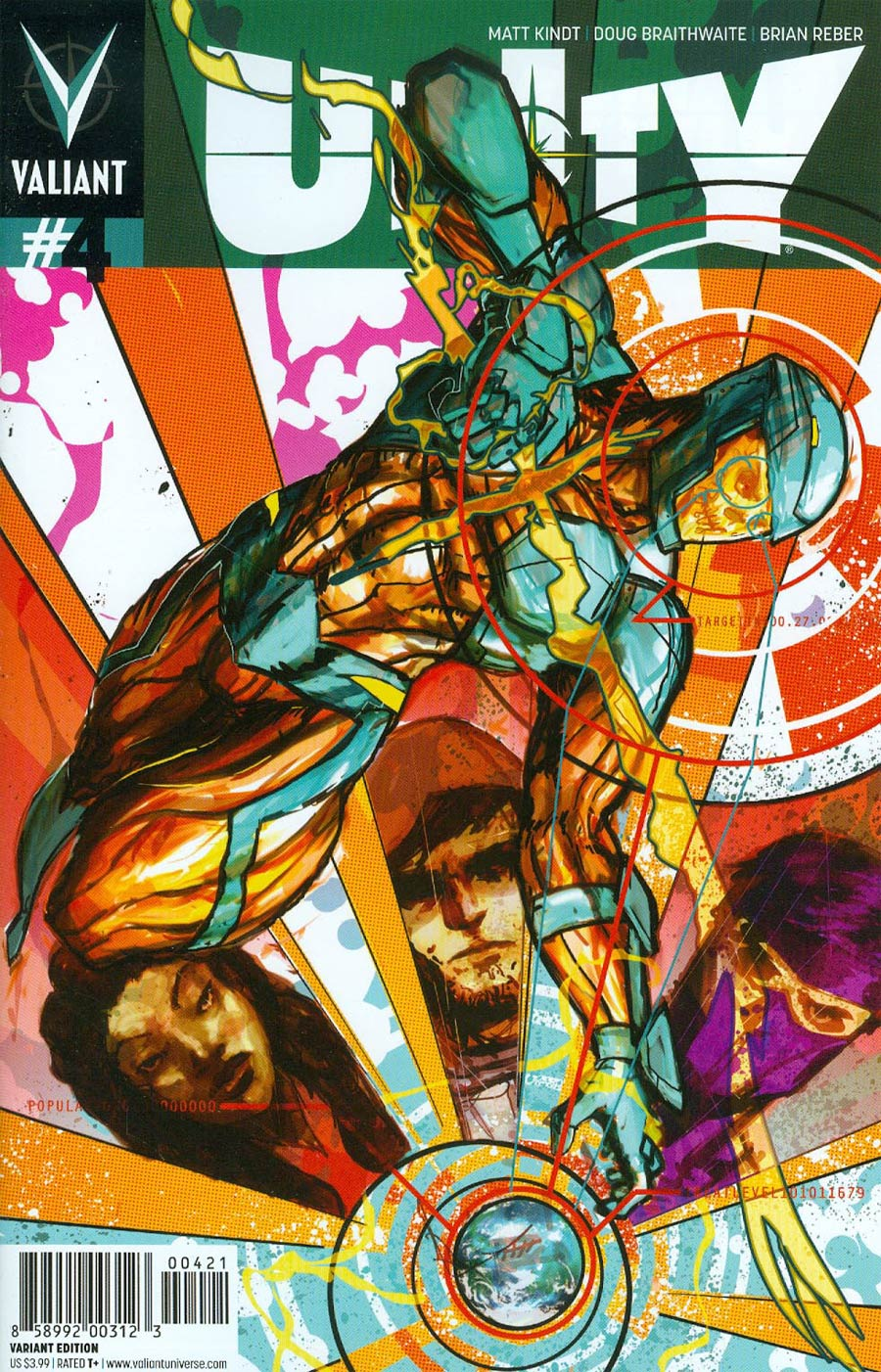 Unity Vol 2 #4 Cover B Variant Riley Rossmo Cover
