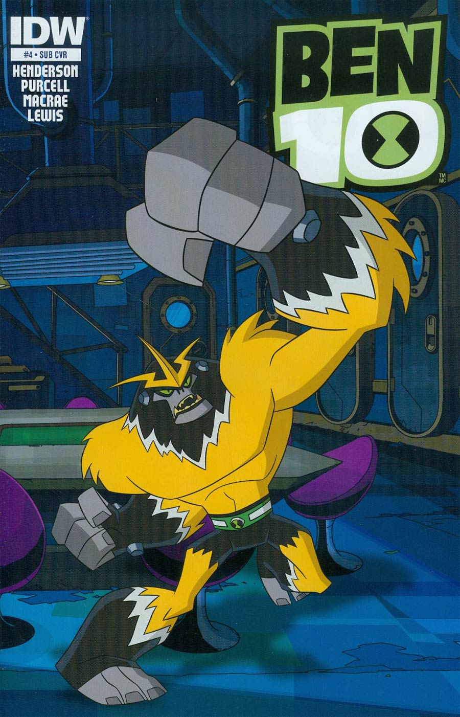 Ben 10 #4 Cover B Variant Key Animation Art Subscription Cover